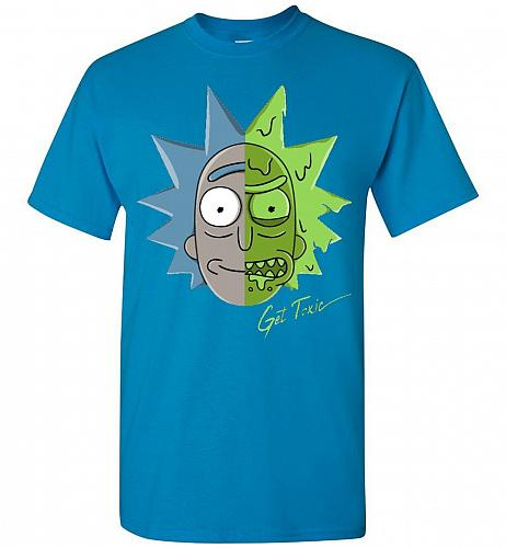 Get Toxic Rick and Morty Unisex T-Shirt Pop Culture Graphic Tee (5XL/Sapphire) Humor