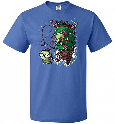 Zime That Stole Christmas Unisex T-Shirt Pop Culture Graphic Tee (S/Royal) Humor Funn