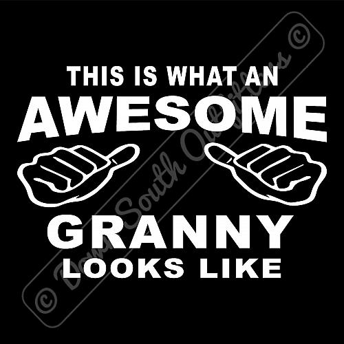 This Is What An Awesome Granny Looks Like T-shirt (16 Tee Colors)