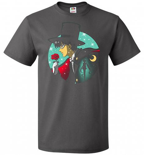 Knight Of The Moonlight Unisex T-Shirt Pop Culture Graphic Tee (3XL/Charcoal Grey) Hu