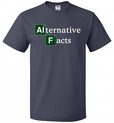 Alternative Chemical Symbol Unisex T-Shirt Pop Culture Graphic Tee (M/J Navy) Humor F