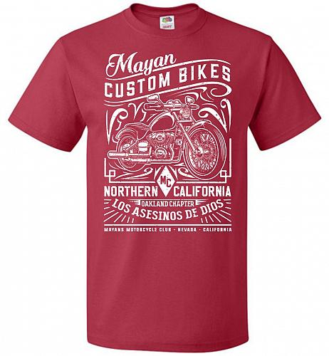 Mayan Custom Bikes Sons Of Anarchy Adult Unisex T-Shirt Pop Culture Graphic Tee (3XL/