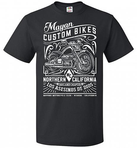 Mayan Custom Bikes Sons Of Anarchy Adult Unisex T-Shirt Pop Culture Graphic Tee (6XL/