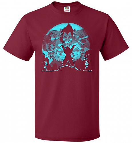 Saiyan Sized Secret Unisex T-Shirt Pop Culture Graphic Tee (S/Cardinal) Humor Funny N