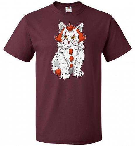 kITten Unisex T-Shirt Pop Culture Graphic Tee (S/Maroon) Humor Funny Nerdy Geeky Shir