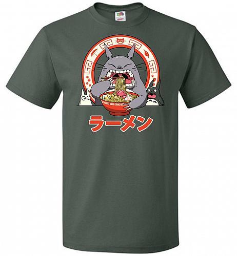 The Neighbor's Ramen Unisex T-Shirt Pop Culture Graphic Tee (4XL/Forest Green) Humor