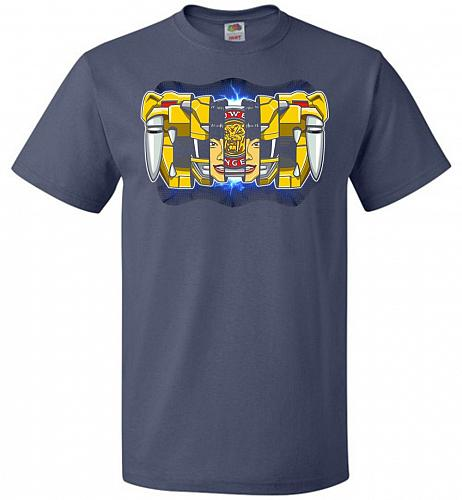 Yellow Ranger Unisex T-Shirt Pop Culture Graphic Tee (L/Denim) Humor Funny Nerdy Geek