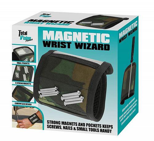 :10907U - Camo Magnetic Wrist Band Wizard 4 Magnet Tool Holder