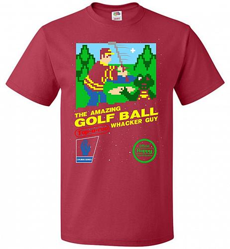 Happy Golf Nintendo Parody Cover Adult Unisex T-Shirt Pop Culture Graphic Tee (L/True