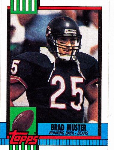 Brad Muster #372 - Bears 1990 Topps Football Trading Card