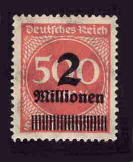 German MNH Scott #271 Catalog Value $.38