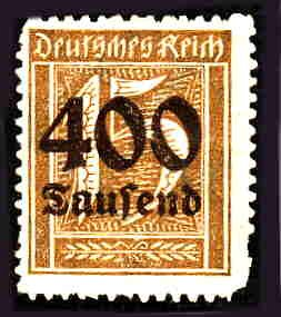 German MNH Scott #273 Catalog Value $.38