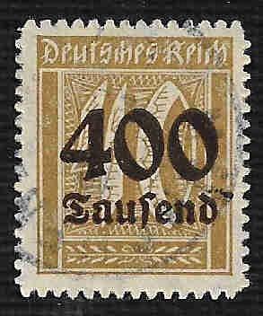 German Used Scott #276 Catalog Value $4.50
