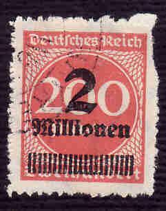 German Used Scott #277 Catalog Value $150.00