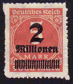 German MNH Scott #278 Catalog Value $.38