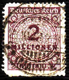 German Used Scott #282 Catalog Value $20.00