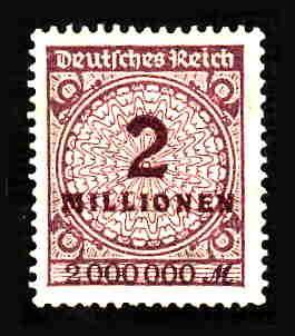 German MNH Scott #282 Catalog Value $.63