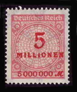 German MNH Scott #285 Catalog Value $.63