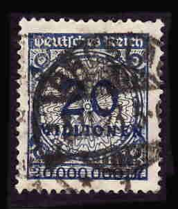 German Used Scott #287 Catalog Value $1.90