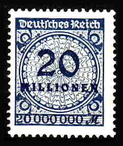 German MNH Scott #287 Catalog Value $.63