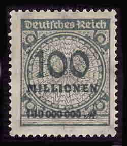 German MNH Scott #290 Catalog Value $.63