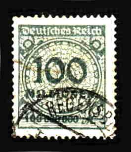 German Used Scott #290 Catalog Value $1.50