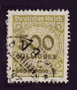 German Used Scott #293 Catalog Value $1.40