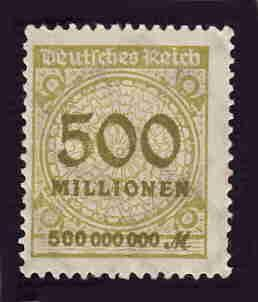 German MNH Scott #293 Catalog Value $.63