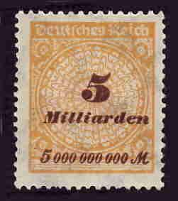 German MNH Scott #296 Catalog Value $.63