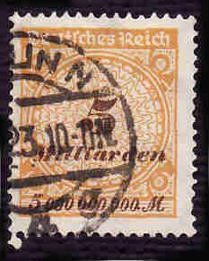 German Used Scott #296 Catalog Value $1.50