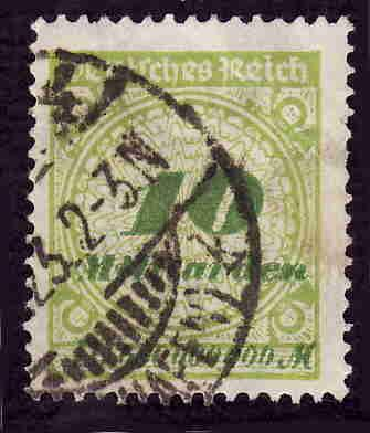 German Used Scott #297 Catalog Value $1.50
