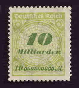 German MNH Scott #297 Catalog Value $.63
