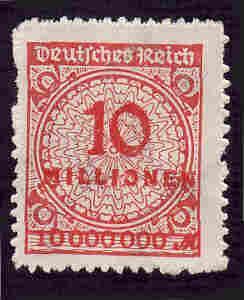 German MNH Scott #301 Catalog Value $1.52