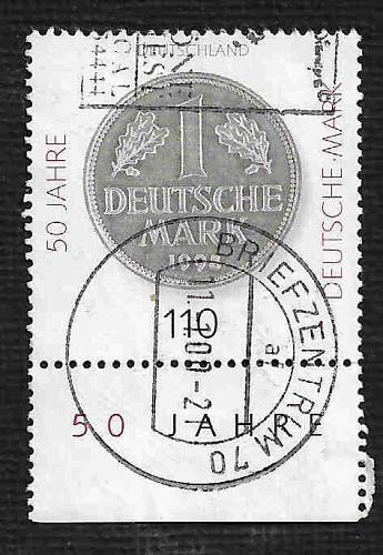 German Used Scott #2007 Catalog Value $.90