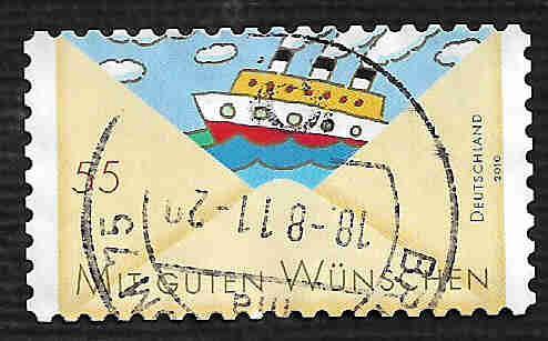 German Used Scott #2605 Catalog Value $.75
