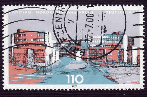 German Used Scott #2075 Catalog Value $.85