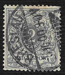 German Used Scott #45 Catalog Value $.90