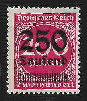 German Hinged Scott #256 Catalog Value $.25