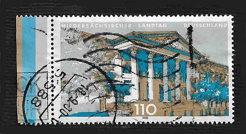German Used Scott #2074 Catalog Value $.85