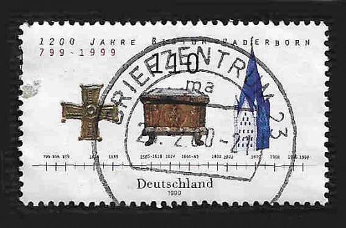 German Used Scott #2044 Catalog Value $.75