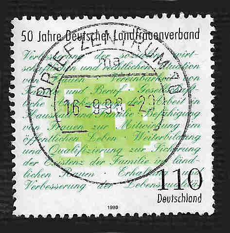 German Used Scott #2003 Catalog Value $.75