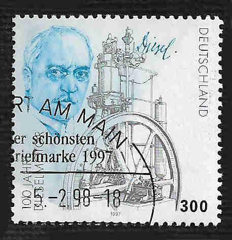 German Used Scott #1977 Catalog Value $2.25