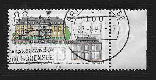 German Used Scott #1962 Catalog Value $.70