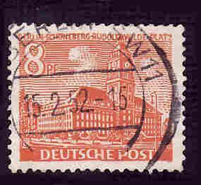 German Used Scott #9N46 Catalog Value $1.00