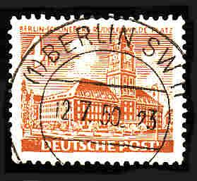 German Berlin Used Scott #9N43 Catalog Value $.35