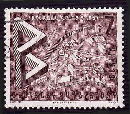 German Used Scott #9N145 Catalog Value $.25