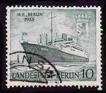 German Berlin Used Scott #9N113 Catalog Value $.60