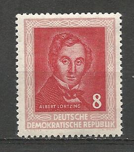 German DDR Hinged Scott #101 Catalog Value $2.20