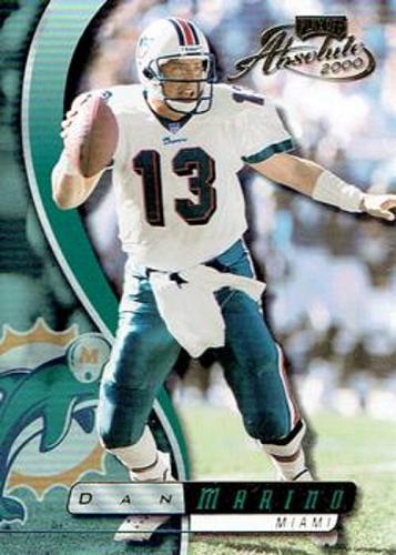 2000 Playoff Absolute #80 - Dan Marino - Miami Dolphins