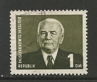 German DDR Used Scott #120a Catalog Value $.50